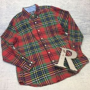 Like New Nautica plaid l/s button up shirt